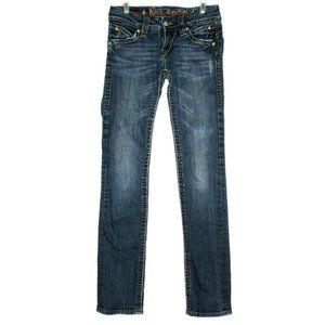 Rock Revival Womens Patti Straight Blue Jeans 26